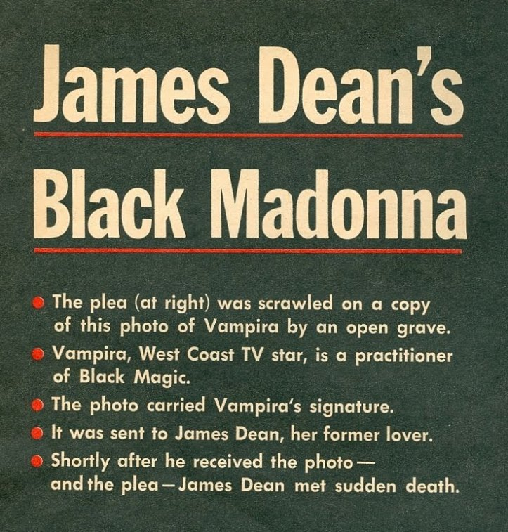Sex and Death: The Brief Friendship Of James Dean And Vampira